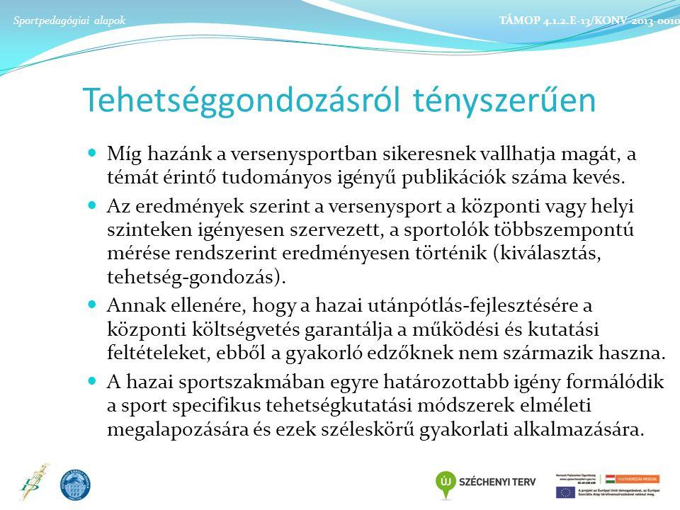 Tehetséggondozásról tényszerűen Míg hazánk a versenysportban sikeresnek vallhatja magát, a témát érintő tudományos igényű publikációk száma kevés.
