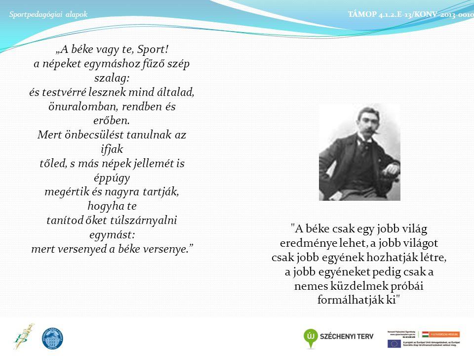 Szakmai felkészültség munkavégzés Szociális kapcsolato k, vezetési stílus Érzelmi, akarati élet Jellemvonás Sportpedagógiai alapok TÁMOP 4.1.2.E-13/KONV-2013-0010 felkészült megbízható igényes kötelességtudó megfontolt jó szervező következetes objektív alapos hanyag kapkodó érdektelen következetlen szubjektív alacsony színvonalú kezdeményező érdeklődő segítőkész demokratikus figyelmes őszinte rugalmas nyitott empátiás humánus határozott határozatlan ellentmondást nem tűrő merev hanyag közönyös vidám humoros türelmes nyugodt kedves jószívű gyengéd hangos indulatvezérelt goromba irigy elutasító szétszórt igazmondó szavatartó becsületes lelkiismeretes megbízható önkritikus titoktartó szolidáris udvarias gerinces egoista lusta megbízhatatlan pletykás dicsekvő