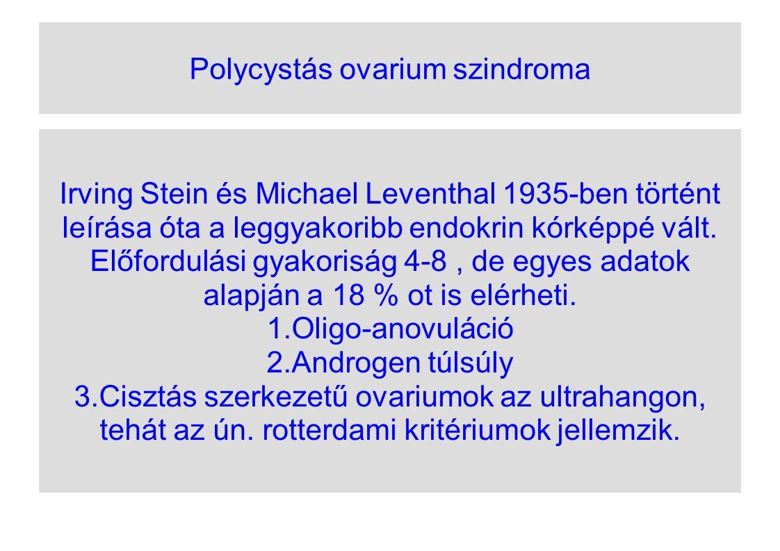 Polycystás ovarium szindroma Irving Stein és Michael Leventhal 1935-ben történt leírása óta a leggyakoribb endokrin kórképpé vált. Előfordulási gyakor