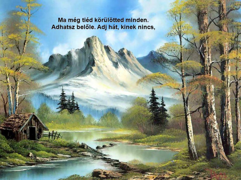 Automatikus váltás Rowena Morill és Bob Ross festményeivel
