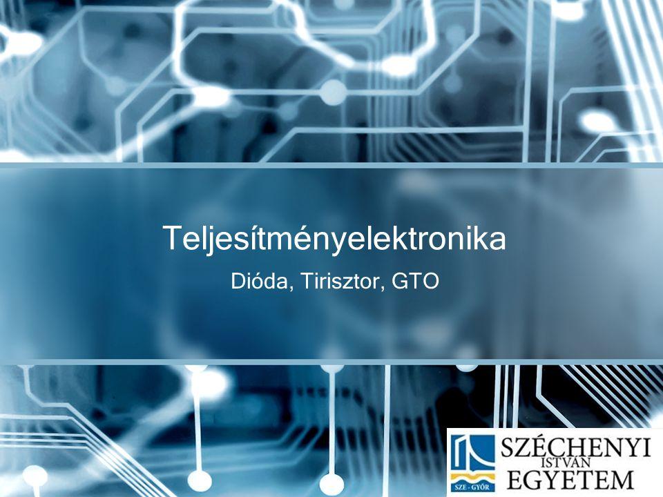 Hálózati tirisztorok (TRIAK) Általában olyan a felépítésük, hogy mind pozitív, mind negatív vezérlőárammal bekapcsolhatók akár az anód, akár a katód pozitív a másikhoz képest.