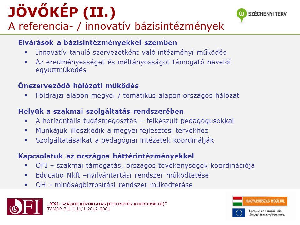 """""""XXI.SZÁZADI KÖZOKTATÁS ( FEJLESZTÉS, KOORDINÁCIÓ ) TÁMOP-3.1.1-11/1-2012-0001 AZ OFI 3.1.1/2."""