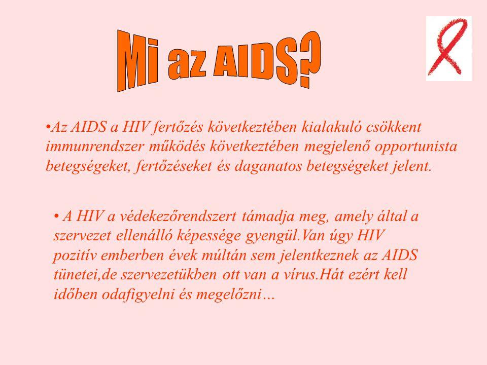 Az AIDS a HIV fertőzés következtében kialakuló csökkent immunrendszer működés következtében megjelenő opportunista betegségeket, fertőzéseket és daganatos betegségeket jelent.