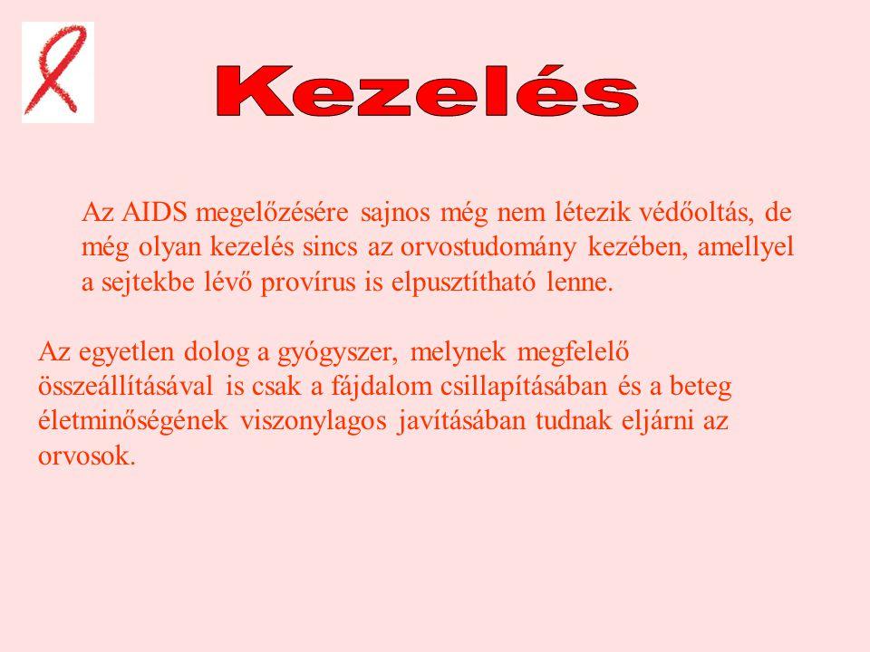 Az AIDS megelőzésére sajnos még nem létezik védőoltás, de még olyan kezelés sincs az orvostudomány kezében, amellyel a sejtekbe lévő provírus is elpusztítható lenne.