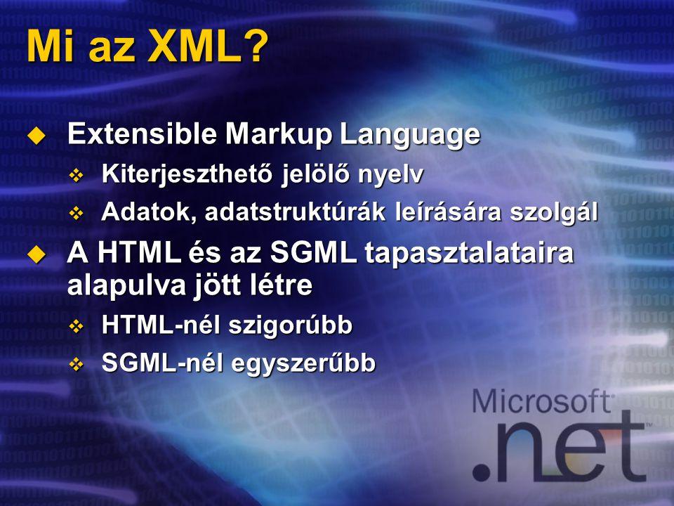 Mi az XML.