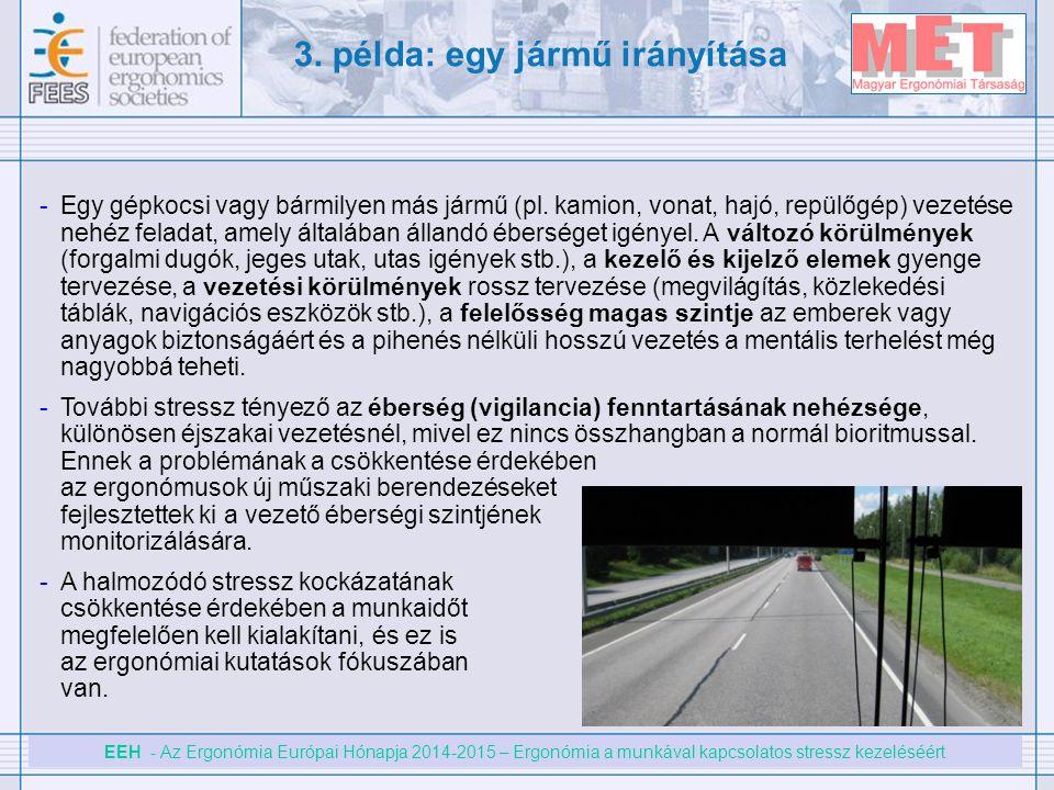 EEH - Az Ergonómia Európai Hónapja 2014-2015 – Ergonómia a munkával kapcsolatos stressz kezeléséért -Egy gépkocsi vagy bármilyen más jármű (pl. kamion
