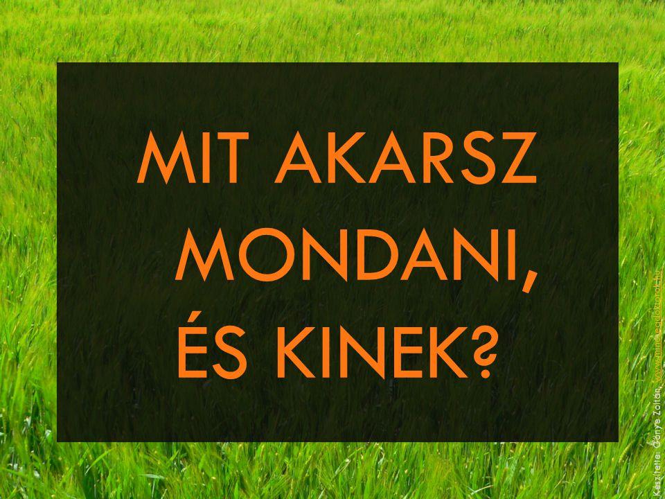 MIT AKARSZ MONDANI, ÉS KINEK? Készítette: Gönye Zoltán, www.minosegdoktorok.huwww.minosegdoktorok.hu