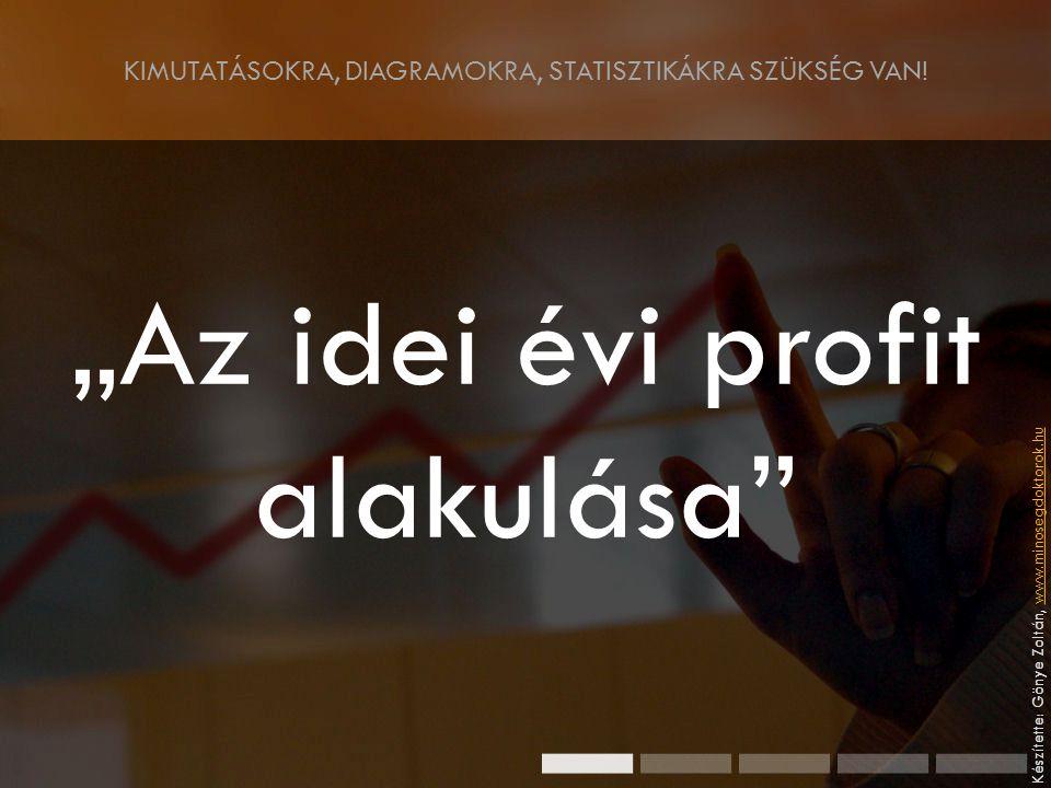 """KIMUTATÁSOKRA, DIAGRAMOKRA, STATISZTIKÁKRA SZÜKSÉG VAN! """"Az idei évi profit alakulása"""" Készítette: Gönye Zoltán, www.minosegdoktorok.huwww.minosegdokt"""
