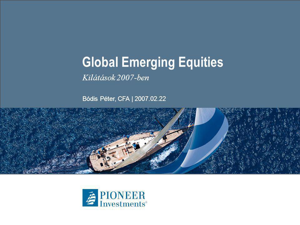 Global Emerging Equities | 2007.02.22 | Seite 12 GEM Equities – aggregált értékelés a kötvényekkel szemben  Eredmény hozam: nyereség/árfolyam ráta, vagyis a részvényárfolyamhoz viszonyított vállalati nyereség.