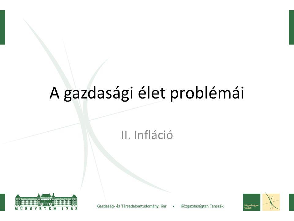 A gazdasági élet problémái II. Infláció