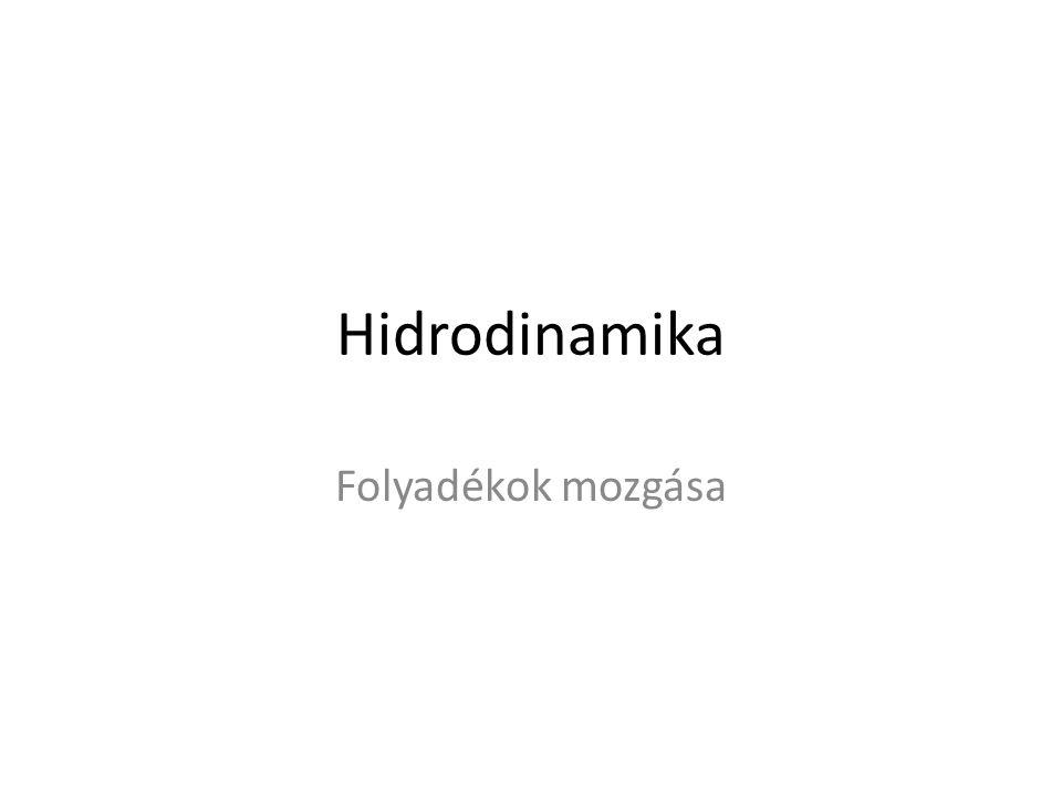 Hidrodinamika Folyadékok mozgása
