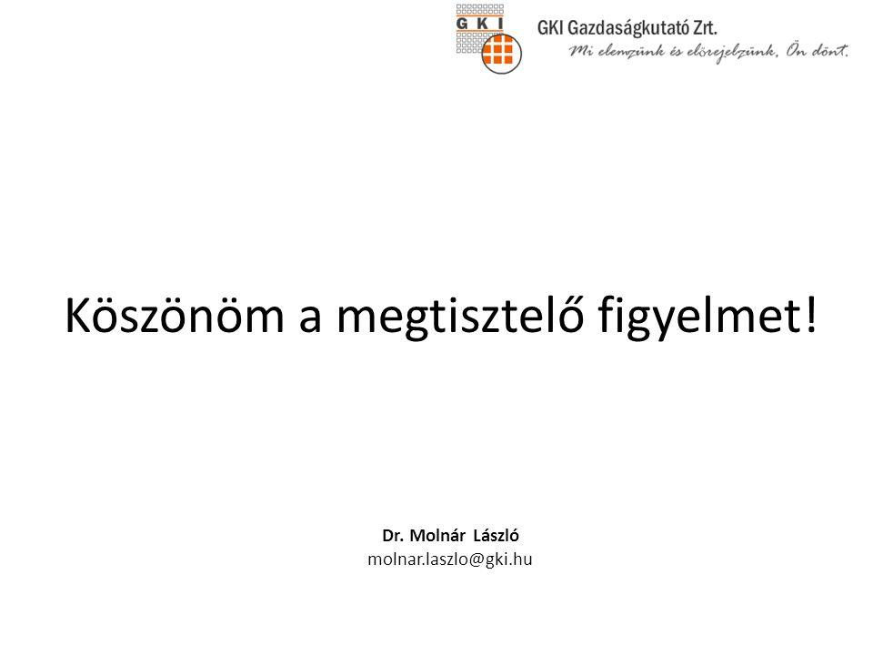 Köszönöm a megtisztelő figyelmet! Dr. Molnár László molnar.laszlo@gki.hu