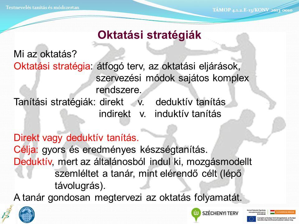 Oktatási stratégiák Mi az oktatás.