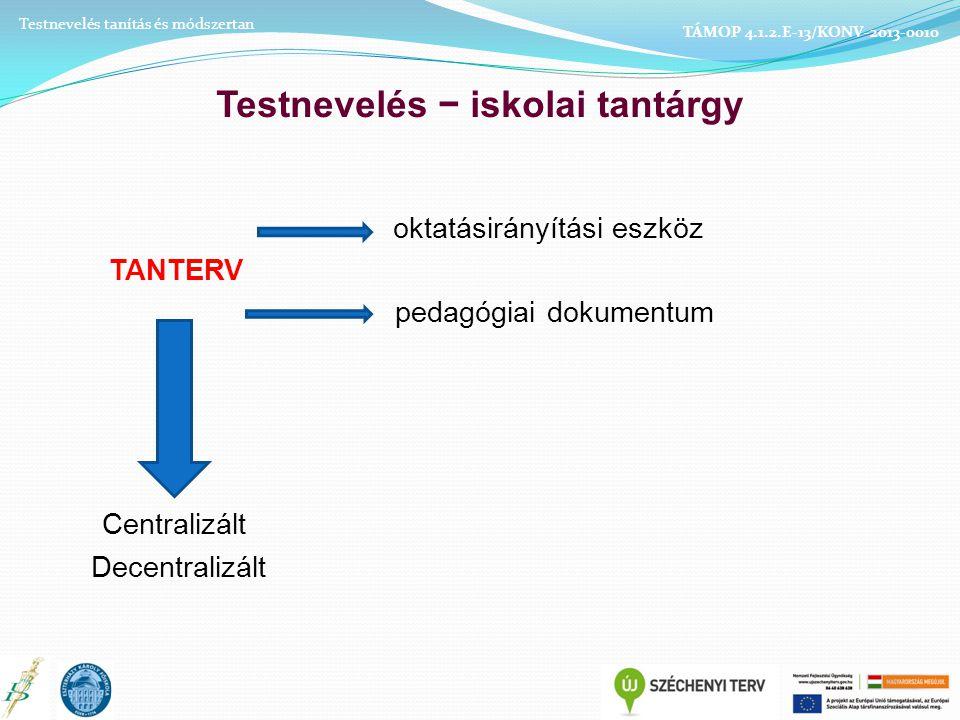 2. A finom koordináció szakasza Testnevelés tanítás és módszertan TÁMOP 4.1.2.E-13/KONV-2013-0010