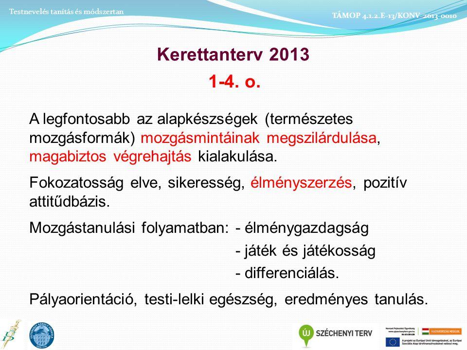 Testnevelés tanítás és módszertan TÁMOP 4.1.2.E-13/KONV-2013-0010
