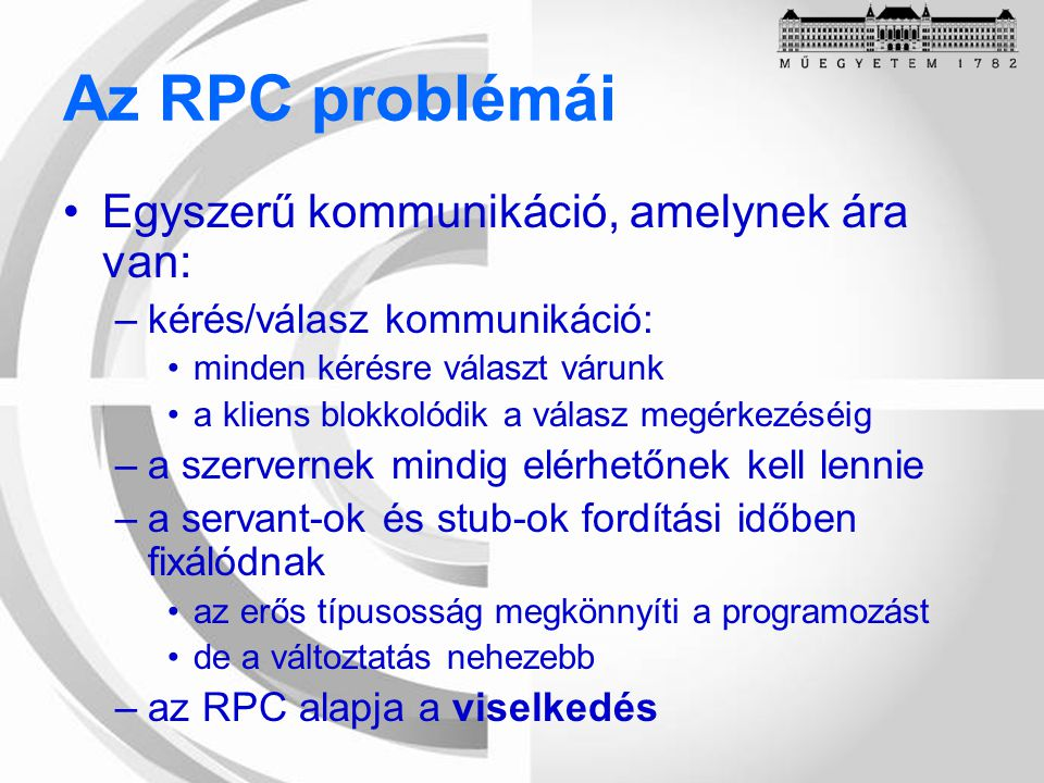 Programozási modell Connection Factory Connection Factory Connection Session Message Producer Message Producer Message Consumer Message Consumer Destination Message Listener Message Listener létrehozza ráépül aszinkron feldolgozás (callback) előállít szinkron feldolgozás (pollozás) aszinkron feldolgozás (callback)