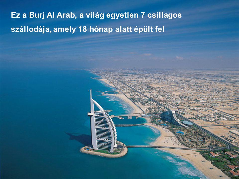 """Emlékszik erre? Igen, igen, ez a """"szerény kis"""" szálloda Dubaiban."""
