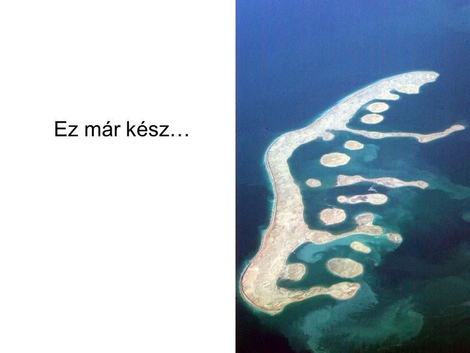 """Ez a """"Föld"""": kontinensek utánzata, mely 7 millió USA $- ba kerül. Megjegyzés: saját """"privátszigete"""" megközelítéséhez szüksége van hajóra, vagy helikop"""