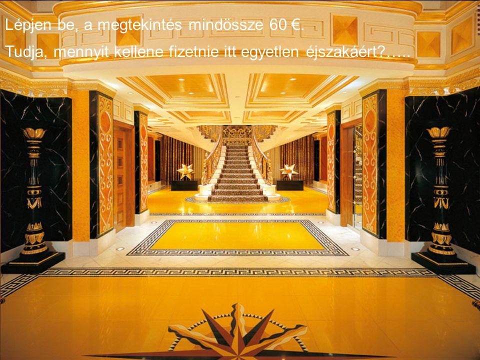 Ez a szálloda Dubaiban van, az Arab Emirátusokban. Igen, sok olaj és sok pénz....