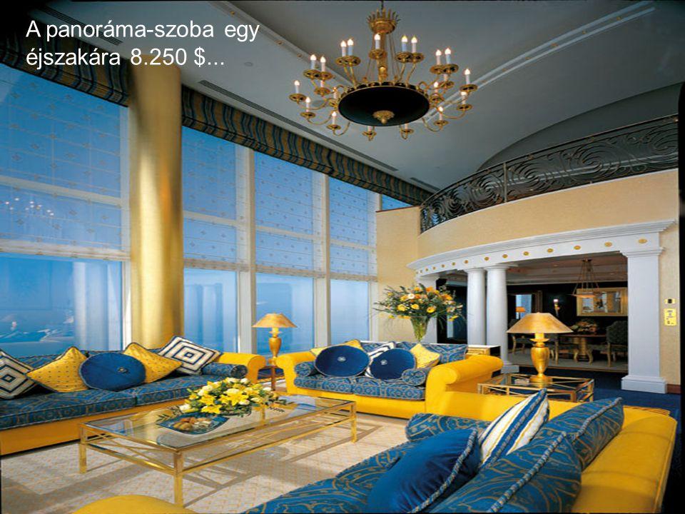 Hadd magyarázzam: luxuskörülmények között tölthet egy éjszakát 7500 és 15000 $ közötti áron...