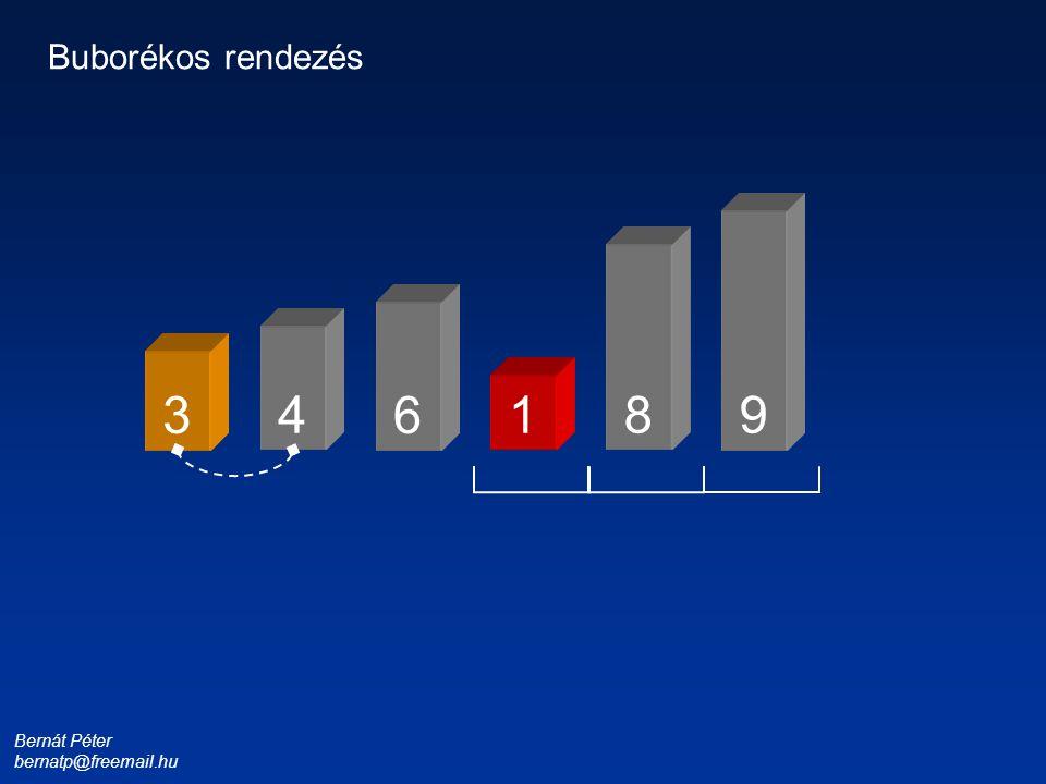 Bernát Péter bernatp@freemail.hu 1 3 4 6 8 9 Buborékos rendezés