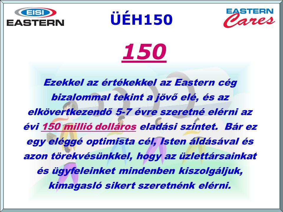 [ September 2007 ] ÜÉH150 Ezekkel az értékekkel az Eastern cég bizalommal tekint a jövő elé, és az elkövertkezendő 5-7 évre szeretné elérni az évi 150 millió dolláros eladási szintet.