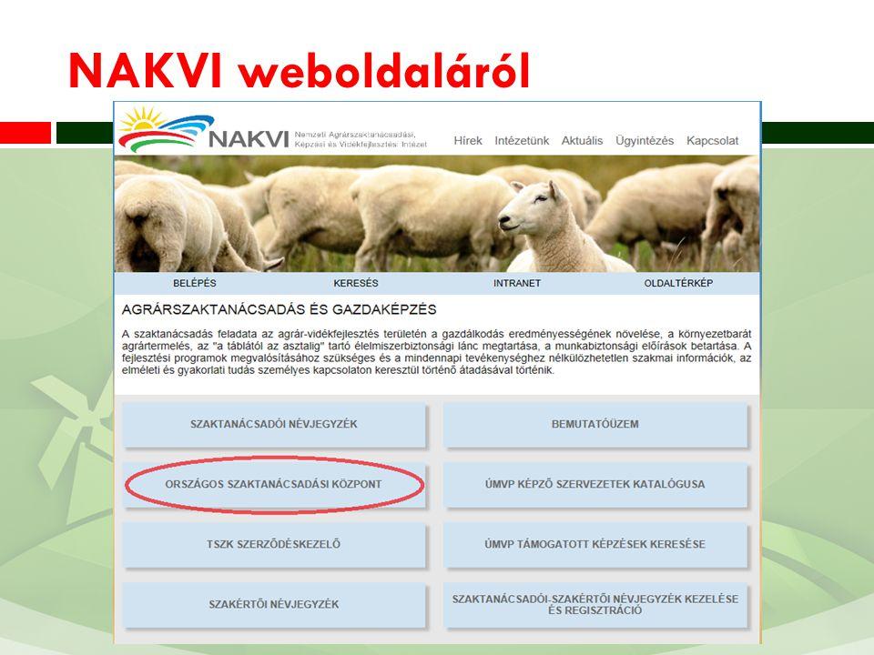 NAK weboldal (www.szaktan.nak.hu)