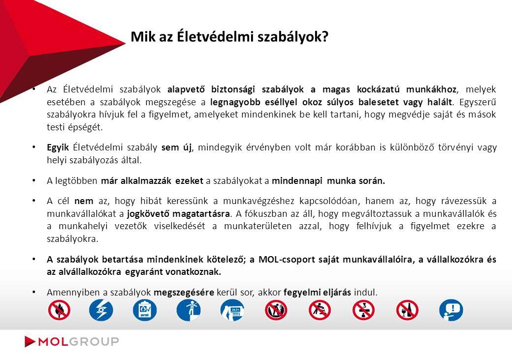 Mik az Életvédelmi szabályok? Az Életvédelmi szabályok alapvető biztonsági szabályok a magas kockázatú munkákhoz, melyek esetében a szabályok megszegé
