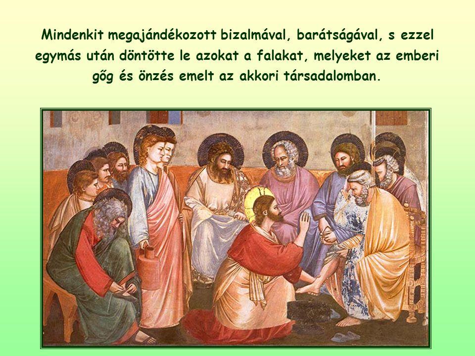 Jézus – földi élete során – mindig elfogadott mindenkit, főképpen a leginkább számkivetetteket, a legnagyobb ínségben élőket, a legtávolabb levőket.