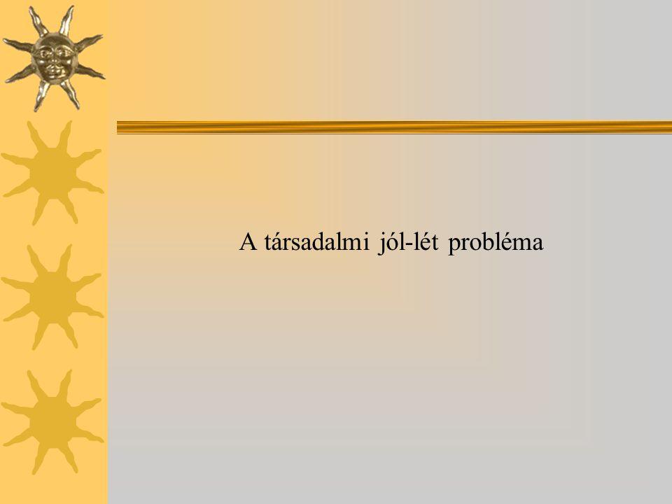A társadalmi jól-lét probléma