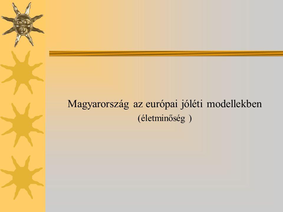 Magyarország az európai jóléti modellekben (életminőség )