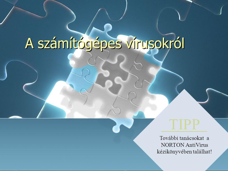 A számítógépes vírusokról TIPP További tanácsokat a NORTON AntiVirus kézikönyvében találhat!