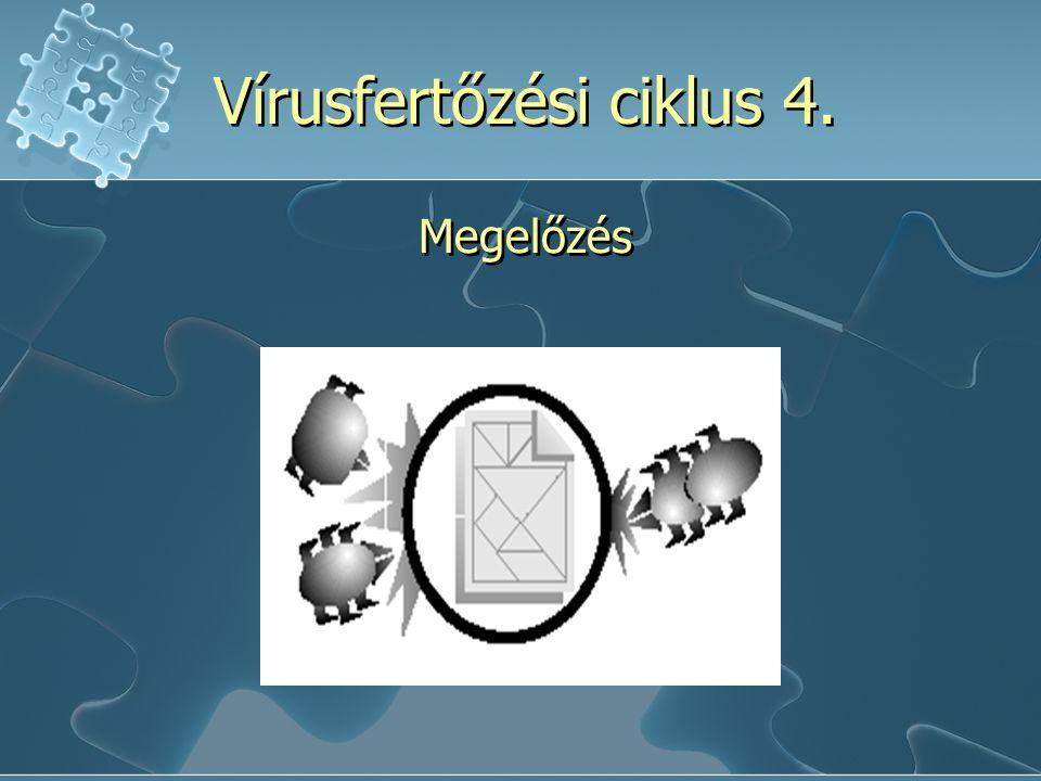 Vírusfertőzési ciklus 4. Megelőzés