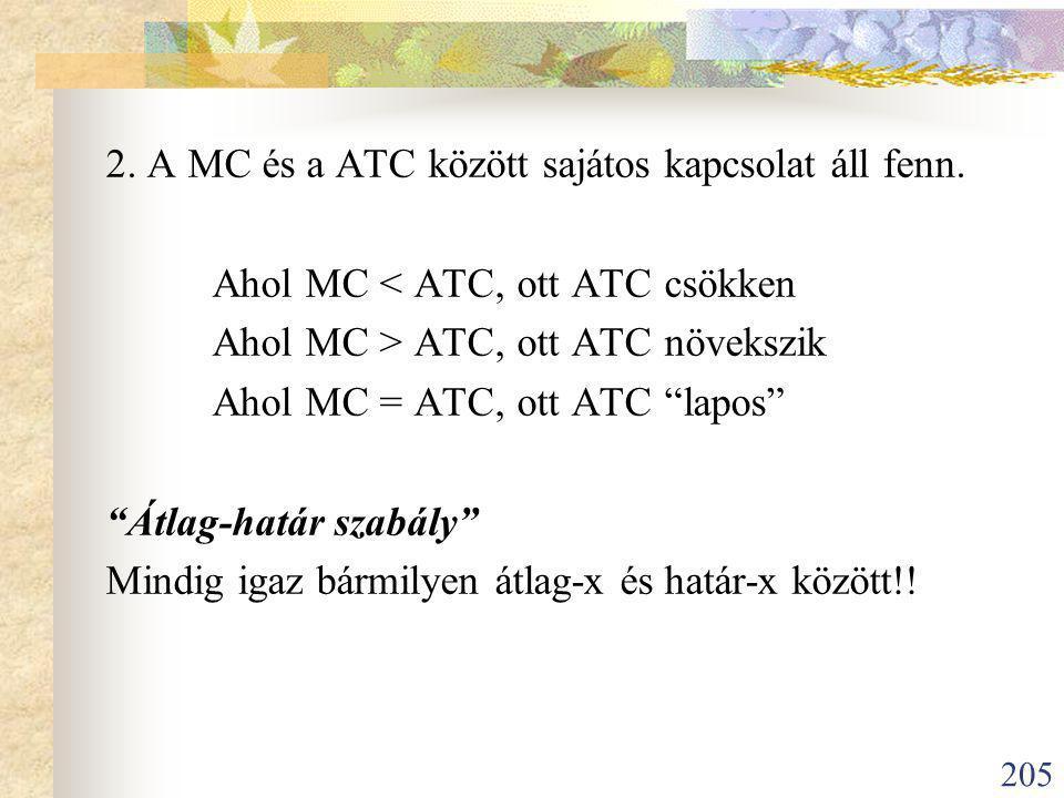 205 2.A MC és a ATC között sajátos kapcsolat áll fenn.