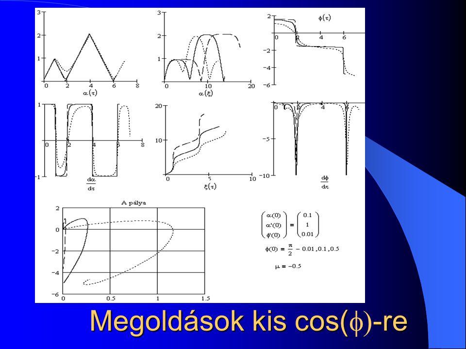 Megoldások kis cos(-re Megoldások kis cos(  -re