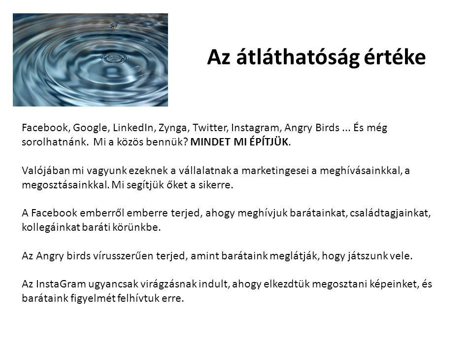 Az átláthatóság értéke Facebook, Google, LinkedIn, Zynga, Twitter, Instagram, Angry Birds...