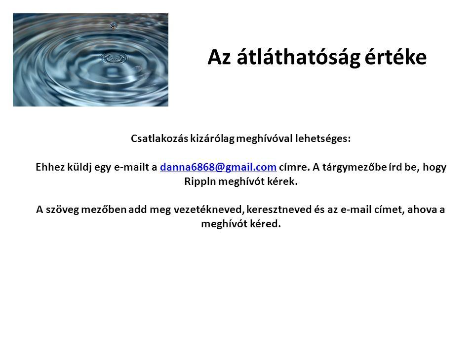 Az átláthatóság értéke Csatlakozás kizárólag meghívóval lehetséges: Ehhez küldj egy e-mailt a danna6868@gmail.com címre.