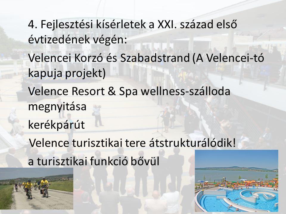 4. Fejlesztési kísérletek a XXI. század első évtizedének végén: Velencei Korzó és Szabadstrand (A Velencei-tó kapuja projekt) Velence Resort & Spa wel