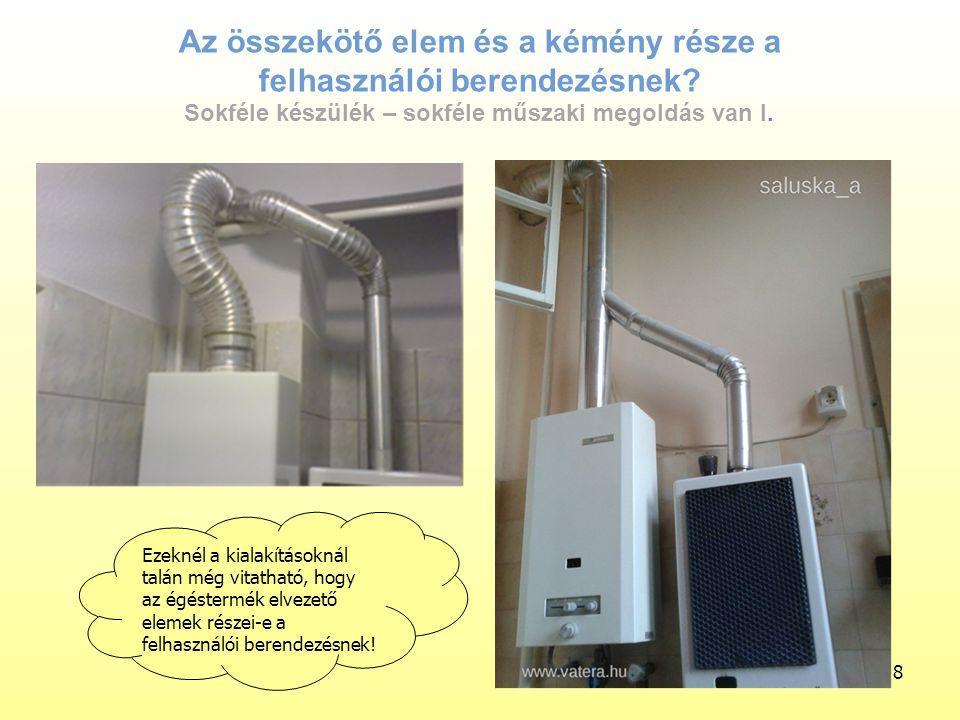 Építészeti, épületgépészeti megoldások hatása a nyílt égésterű (gáz)fogyasztó készülékek üzemére 1/1977.