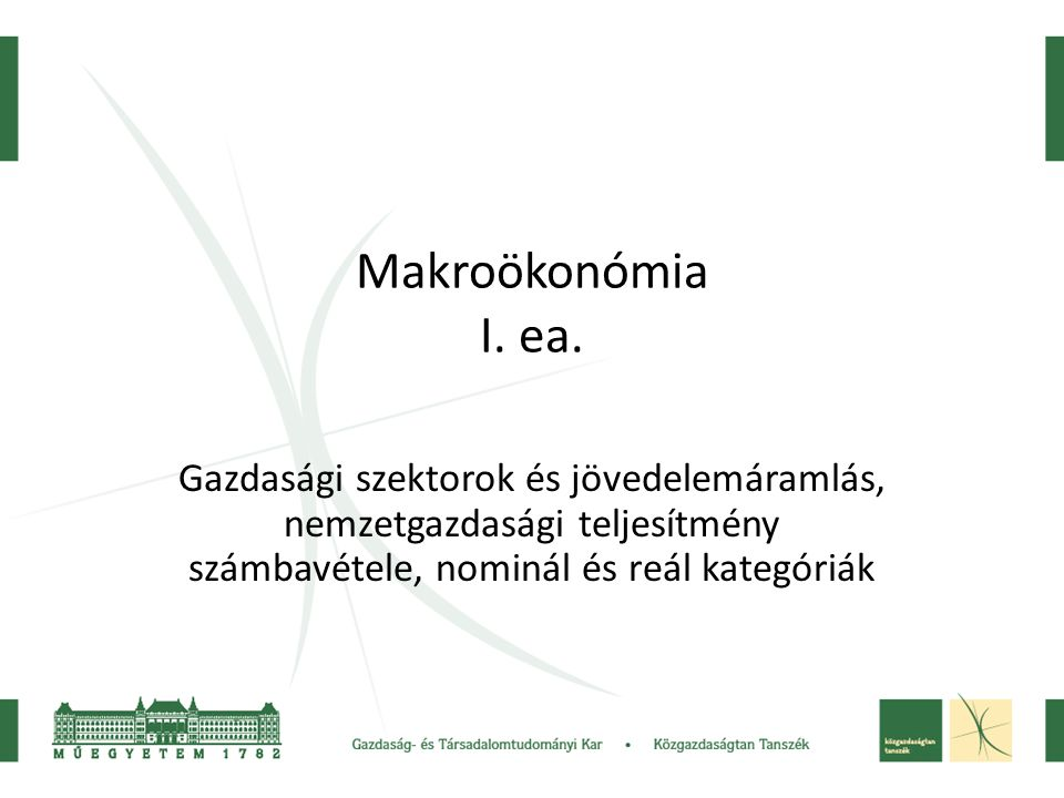 Makroökonómia I.ea.