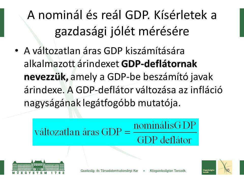 35 A nominál és reál GDP.