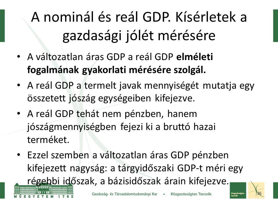 36 A nominál és reál GDP.