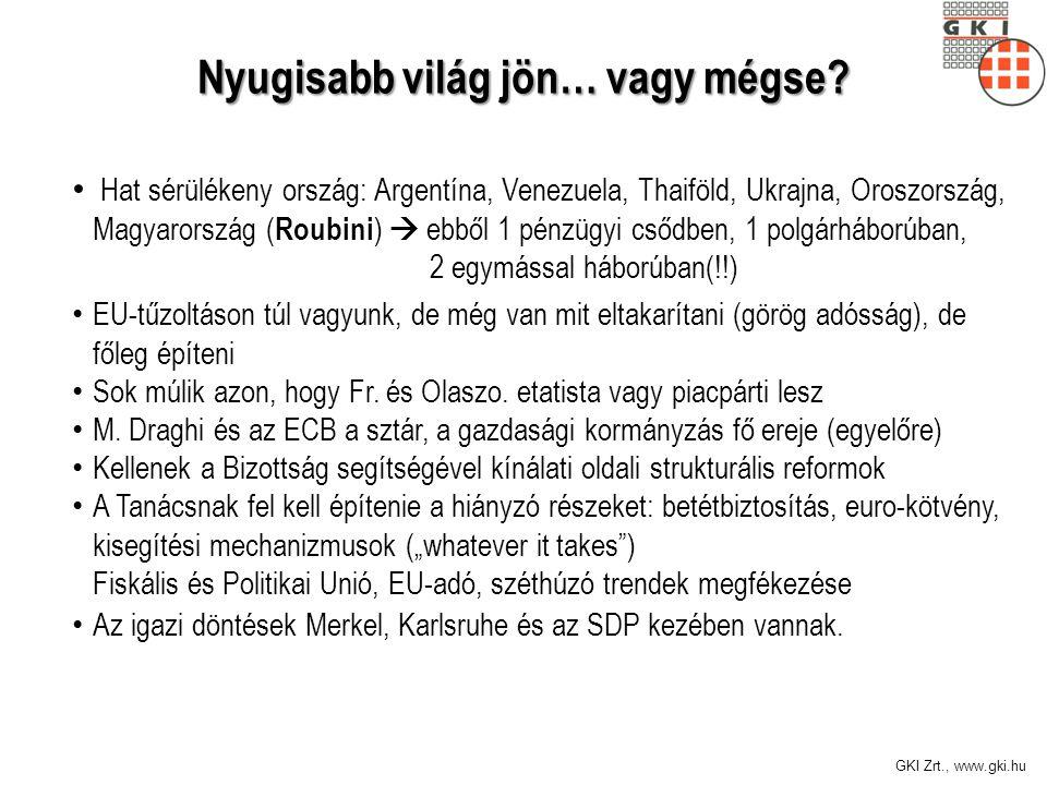 GKI Zrt., www.gki.hu Nyugisabb világ jön… vagy mégse.