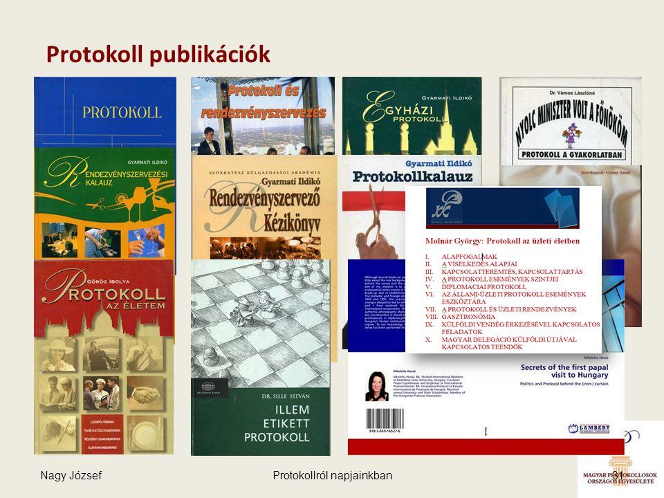 Nagy JózsefProtokollról napjainkban31 Protokoll publikációk