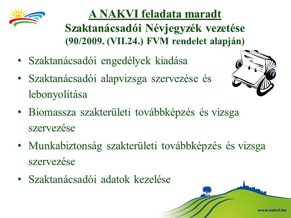 A NAKVI feladata maradt Szaktanácsadói Névjegyzék vezetése (90/2009.