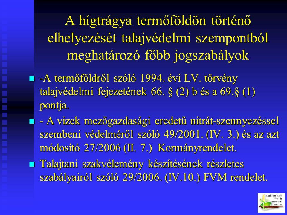 HÍGTRÁGYA - Fogalma - Fogalma - Előnyei (szervesanyag, talajszerkezet javító, talajélet serkentő és tápanyag forrás) - Előnyei (szervesanyag, talajsze