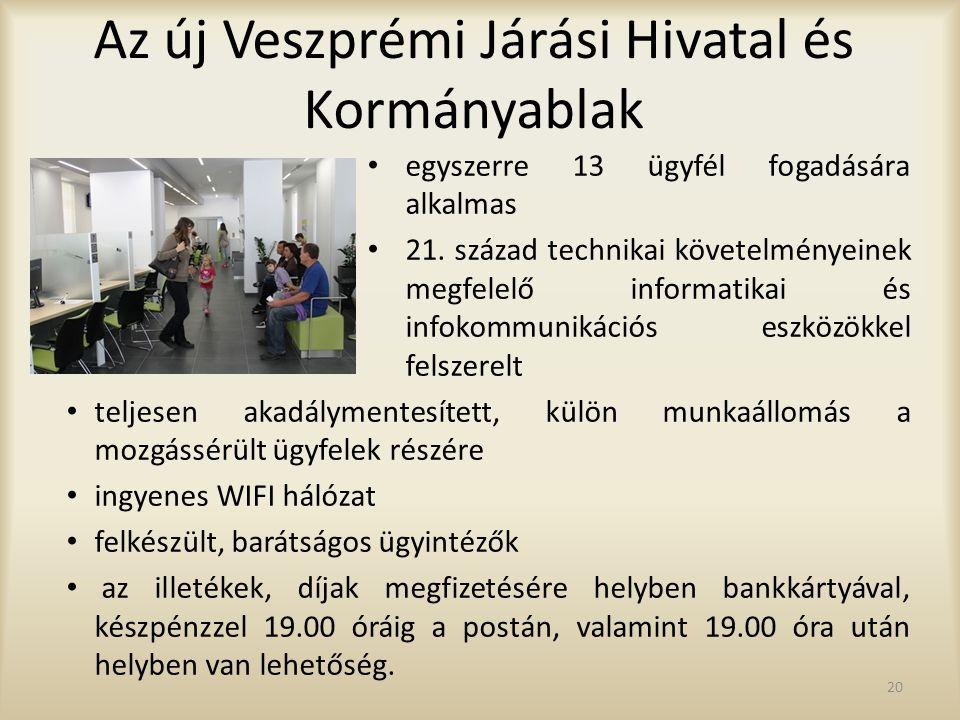 Az új Veszprémi Járási Hivatal és Kormányablak egyszerre 13 ügyfél fogadására alkalmas 21. század technikai követelményeinek megfelelő informatikai és