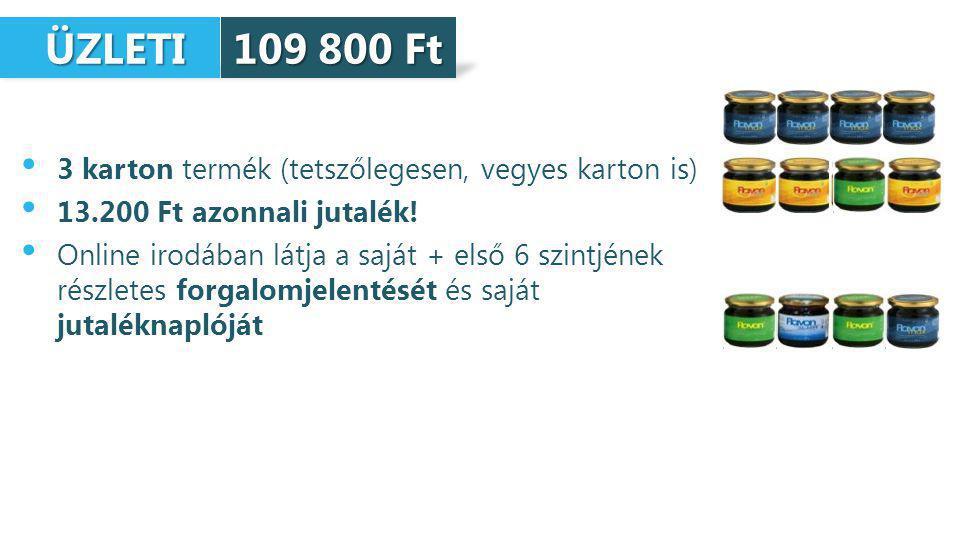 ÜZLETI ÜZLETI 3 karton termék (tetszőlegesen, vegyes karton is) 13.200 Ft azonnali jutalék.