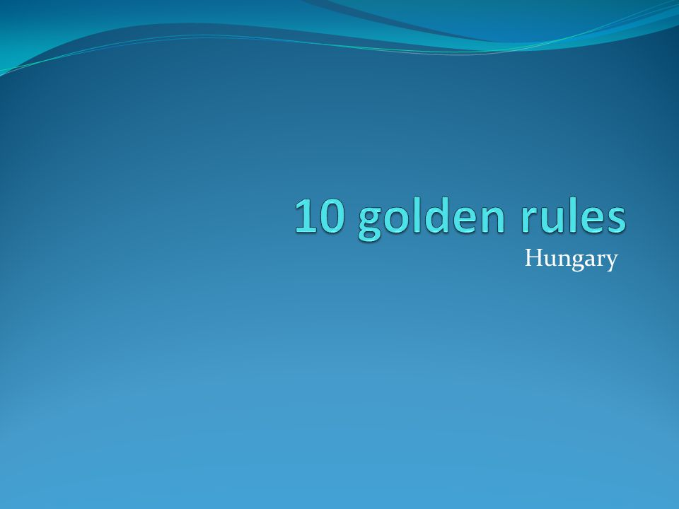10 golden rules Collect paper Selective waste collection Recycle reusing materials Turn off lights Turn off taps Economize pocket money Use economical machines Fast ventilation during heating season Close the doors of the corridor during heating season Ride bicycle or go on foot to the school