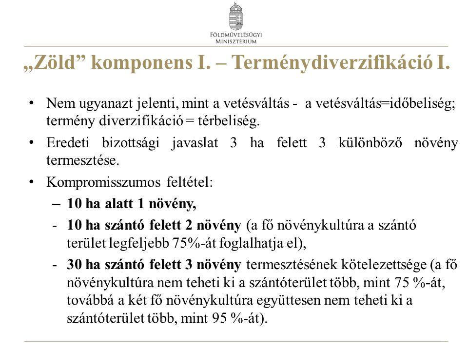 """""""Zöld komponens I.– Terménydiverzifikáció I."""